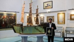 The ship is bound for the Imam Husayn Shrine in Karbala, Iraq.