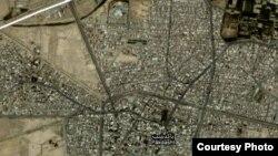 تصویر ماهوارهای منطقه پاکدشت که بر اساس گزارشها مرکز زمینلرزه امروز تهران بوده است