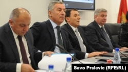 Milo Đukanović na sastanku sa privrednicima, 16. decembar 2013.