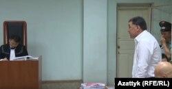 Канат Хасанов на суде по делу Омурбека Текебаева.