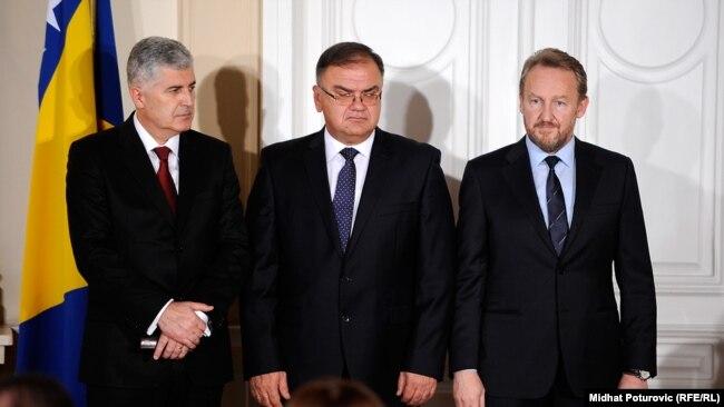 Tročlano Predsjedništvo BiH: Dragan Čović, Mladen Ivanić i Bakir Izetbegović