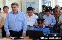 Адамкул Жунусов в бытность руководителем ГТС КР. 10 июля 2015 г.