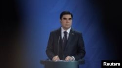 "Turkmen President Gurbanguly Berdymukhammedov. ""You cannot have five years of extreme authoritarianism and then have a couple of weeks of democracy,"" one podcast panelist says. ""It doesn't work like that."""
