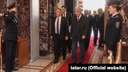 Перед ежегодным посланием президента Татарстана Госсовету РТ. 24 сентября 2018 года