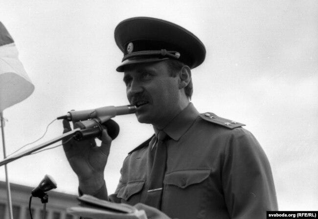 Мікола Статкевіч абвяшчае аб утварэньні БЗВ, 20 жніўня 1991 г.