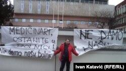 Građani dežuraju za spas Opće bolnice u Sarajevu