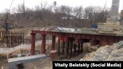 Будівництво мосту. Київ, Володимирська гірка. 23 березня 2019 року