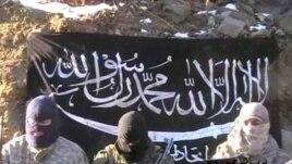 Кадр из видео с угрозами атаки от террористической группировки