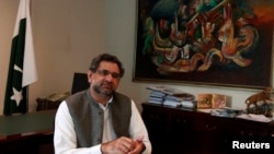 Former Pakistani Oil Minister Shahid Khaqan Abbasi is expected to be chosen as an interim prime minister by parliament following the resignation of Nawaz Sharif.