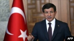 Turkish Prime Minister Ahmet Davutoglu said that there were no plans to send ground troops into Syria.