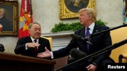 Президенттер Дональд Трамп менен Нурсултан Назарбаевдин кездешүүсү. Вашингтон, 16-январь, 2018-жыл.