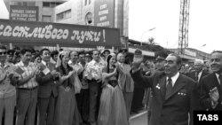 L.Brejnev Moskvadan Bakıya gəlir, 1978