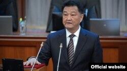 Кыргызстандын Саламаттык сактоо министри Талантбек Батыралиев.
