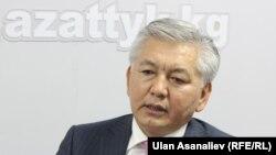 Мэр Бишкека Иса Омуркулов в Кыргызской редакции Азаттыка. Бишкек, 13 сентября 2012 года.