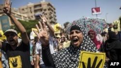 مظاهرة مؤيدة لجماعة الاخوان (الارشيف).