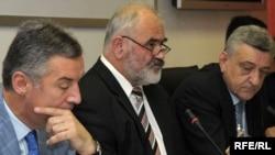 Milo Đukanović na sastanku sa predstavnicima sindikata, 8. jun 2010. Foto: Savo Prelević