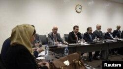 هیات نمایندگان حکومت سوریه در دور قبلی مذاکرات صلح ژنو