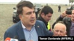 Mikheil Saakashvili Gürcüstanda hakimiyyətdə olarkən. Anaklia. 02Okt2013
