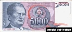 Jedna od novčanica bivše SFRJ sa likom Josipa Broza Tita