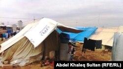 Pamje e një kampi të refugjatëve brenda në Siri