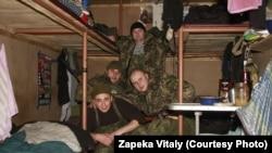 Бійці батальйону «Полтава» у бліндажі