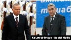 Президенттикке талапкерлер Каримов менен Кетмонов.
