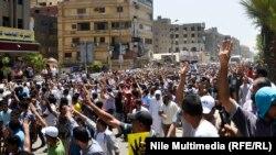 القاهرة - مظاهرة للاخوان في الذكرى السنوية لعزل مرسي(من الارشيف)