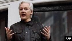 Основатель WikiLeaks Джулиан Ассанж. Лондон, 19 мая 2017 года.