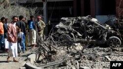 Pamje pas një sulmi ajror të koalicionit të udhëhequr nga A. Saudite në Jemen