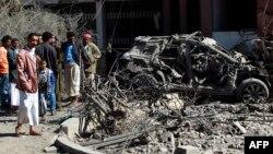 منطقهای که به آن حمله شده بازاری در شمال شرق صنعا بود
