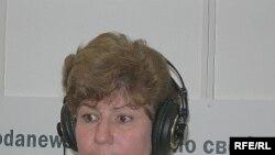 Каринна Москаленко в студии Радио Свобода