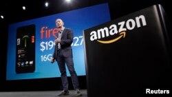 """""""Amazon"""" компаниясынын негиздөөчүсү Жефф Безос, Сиэтл шаары, 18-июнь 2014-жыл."""