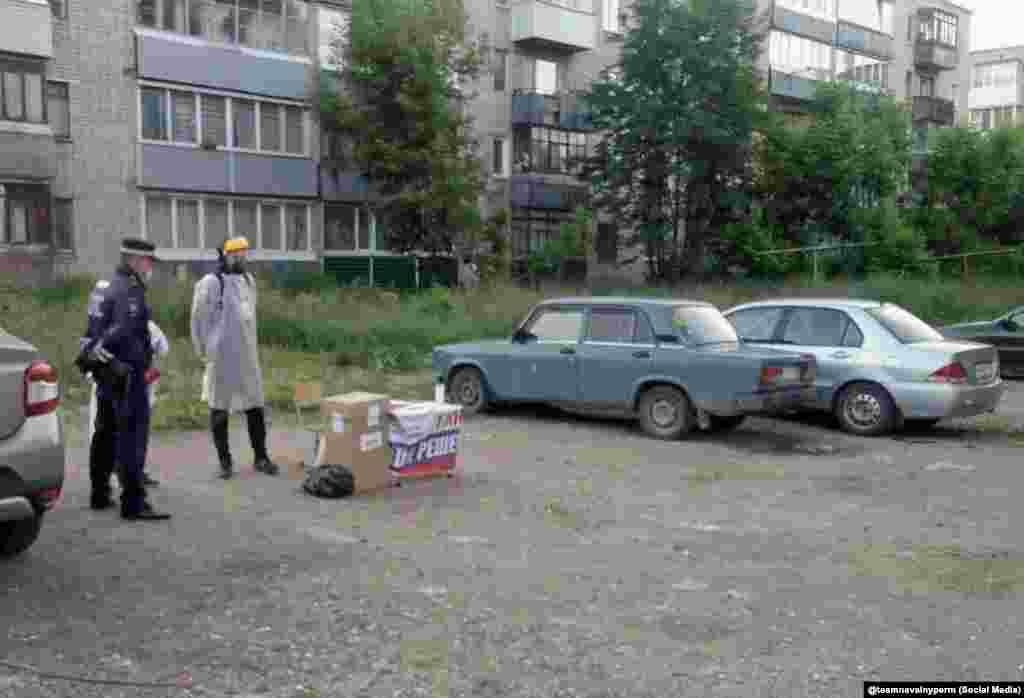 Избирачко место за паркирање во областа Закамск во Перм