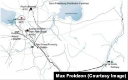Схема транспортировки нефтепродуктов в Петербурге, из искового заявления М. Фрейдзона