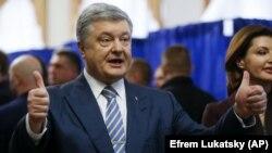 Petro Poroşenko prezident saylavlarında rey bergende. 2019 senesi martnıñ 31-i