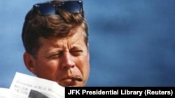 U.S. President John F. Kennedy in an undated photograph