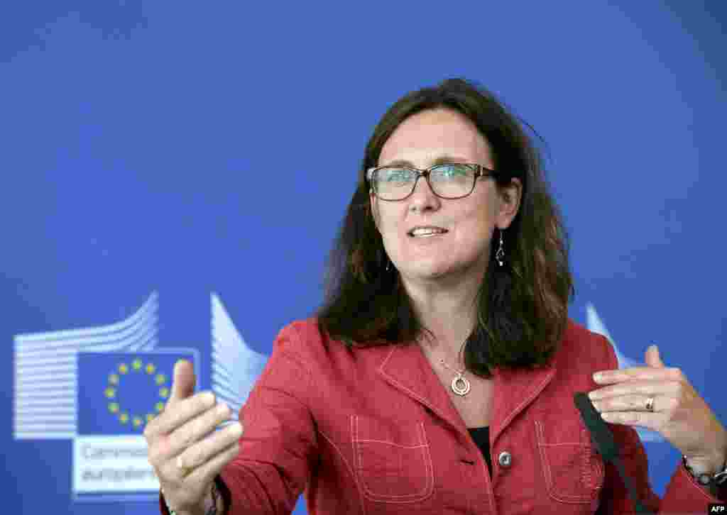 Cecilia Malmstrom, Sweden, EU trade: She faces the difficult task of ensuring that the EU and the U.S. strike a new free-trade agreement that has been criticized by many, especially after the NSA spying scandal.