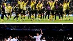 Foto e kombinuar e lojtarëve të Dortmundit dhe Bayern Munich-ut