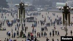 Площадь Тяньаньмэнь в 23-ю годовщину события