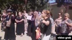 Акция протеста матерей арестованных по «гянджинскому делу». Баку, 21 августа 2019 г.