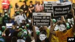 Акции в Бразилии с требованием предоставить Эдварду Сноудену политическое убежище