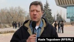 Андрей Бузыкин, активист движения «Защитим Кокжайляу». Алматы, 19 февраля 2015 года.