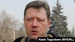 «Көкжайлауды қорғайық» қозғалысы белсенділерінің бірі Андрей Бузыкин.