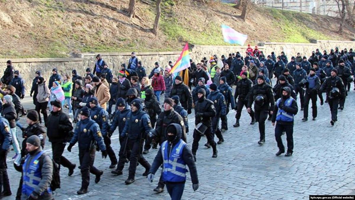 На Марше памяти трансгендерных людей в Киеве задержали 6 человек за мелкое хулиганство €? полиция