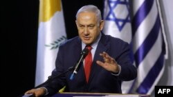 Israeli leader Benjamin Netanyahu says a U.S. pullout from Syria will not end efforts to contain Iran in that country.