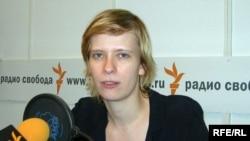 Марина Литвинович в студии Радио Свобода