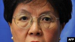 The director-general of the WHO, Margaret Chan