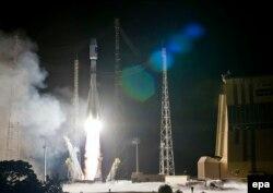 """Запуск ракеты-носителя """"Союз"""" с космодрома Куру. Сентябрь 2015 года"""