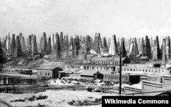 Nobel qardaşlarının Balaxanıda neft mədənləri - 1890