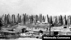 Balaxanıda Nobel qardaşlarının neft buruqları - 1890